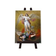 Items similar to Saint Michael the Archangel - icon on ceramic tile - saints art - The Fall of Lucifer - saints icons - St Michael icon - catholic saints on Etsy Catholic Gifts, Catholic Art, Religious Gifts, Religious Art, Wall Art Prints, Poster Prints, Esquivel, Angel Art, St Michael
