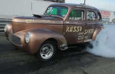 This '41 Willys Gasser has been tearing up dragstrips since the 60's and will soon be going up for sale. We'll post details. #gasser #madness #gasserwars #nostalgia #dragcar #nhra #ihra #hotrod #oldschool #dragracing #slicks #thewayitusedtobe #straight #axle #racing