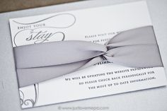 ON SALE NOW! Created with Just Invite Me... Silver Letterpress Wedding Invitation Suite