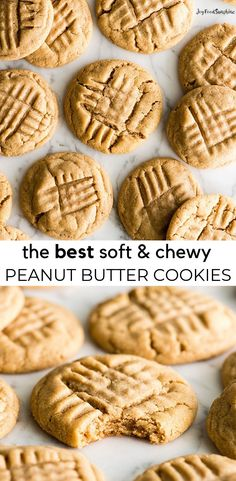 This is BEST peanut butter cookie recipe ever! These classic soft peanut butter Peanut Butter Cookie Recipe Soft, Best Peanut Butter, Butter Cookies Recipe, Peanut Butter Recipes, Chip Cookie Recipe, Easy Cookie Recipes, Yummy Cookies, Dessert Recipes, Desserts
