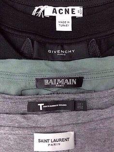 Acne, Givenchy, Balmain, Alexander Wang, Saint Laurent.