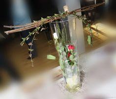 dcoration de tables et art floral vase transparent dco buffet