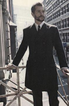 hugh dancy oh yes. love the coat too.