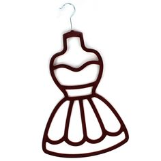 Non-slip flocking ensures your scarves stay in place with this black, dress design scarf hanger. Wonderful gifft idea for scarf lovers, present for your wife. Scarf Holder, Tie Organization, Lazer Cut, Scarf Dress, Burgundy Dress, Flocking, Wood Crafts, Designer Dresses, Beautiful Dresses