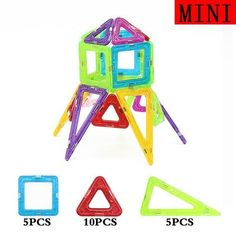 Mini 20Pcs/Set Models Building Toy Magnetic Designer Educational Building Blocks Plastic Assemble Enlighten Bricks Kids Toys