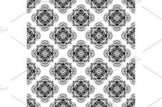Damask Patterns, Arabesque, Vector Pattern, Abstract Backgrounds, Floral, Prints, Flowers, Flower