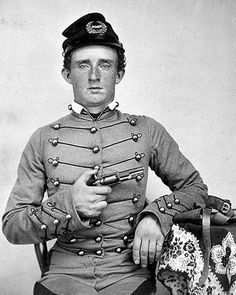 George Armstrong Custer while he was a cadet at the US military academy at West Point. 1859.