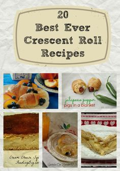 Crescent Roll Recipes - A Roundup with Feeding Big.  Find over 20 recipes that use crescent rolls.  Appetizers, main dishes and desserts!  I know you will find your families new favorites!