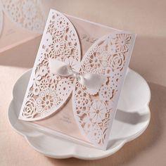 200 pcs FreeShipping Bowknot do Vintage Laser cut do convite do casamento branco oco flores, Convite de casamento em Evento & Party de Home & Garden no AliExpress.com | Alibaba Group