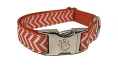Chief Furry Officer Designer Fabric Dog Collar Medium >>> Find out more about the great product at the image link.Note:It is affiliate link to Amazon.