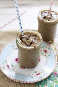 "Super healthy chocolate ""milkshake"" smoothie packed with secret greens. My kids' favorite. Mine too :)"