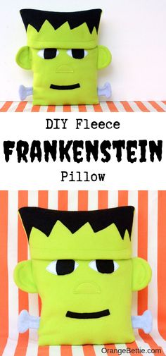 This Frankenstein pillow is the PERFECT decor for Halloween! Such a cute bold This Frankenstein pillow is the PERFECT decor for Halloween! Such a cute bold statement piece but made with soft cuddly fleece. Source by somewhatsimple Halloween Sewing Projects, Sewing Projects For Kids, Sewing For Kids, Diy Projects, Diy Halloween Decorations, Halloween Crafts, Halloween Ideas, Halloween Cupcakes, Scary Halloween