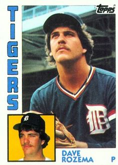 Dave Rozema 1984 Pitcher - Detroit Tigers  Card Number: 457