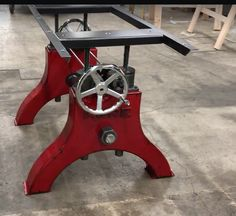 Vintage Industrial Furniture also sells just the table bases like this Hure Crank.