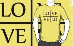 Velo Love - Love Velo (lite) by PaulHamon  #bike #cycling #tshirt