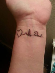 dad memorial tattoos for daughters Rip Tattoos For Dad, Tattoos For Dad Memorial, Daddy Tattoos, Father Tattoos, Wrist Tattoos For Women, Tattoos For Daughters, Daddys Girl Tattoo, Dad Tattoo In Memory Of, Small Remembrance Tattoos