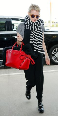 10 CelebritiesShow Us How to Wear Overalls Like an Adult - Finish with Statement Accessories  - from InStyle.com
