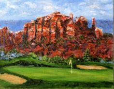 Sedona Golf Painting  - Sedona Golf Fine Art Print