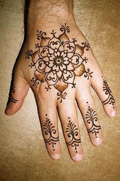 mandala hand art!