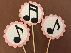 12 music note cupcake toppers, rock and roll cupcake toppers, Rock and Roll baby shower decoration, Rock and Roll baby shower cupcake topper -music-note-cupcake-toppers Music Party Decorations, Baby Shower Decorations, Party Themes, Ideas Party, Baby Decor, Music Note Cake, Music Notes, Music Music, Baby Shower Cupcake Toppers