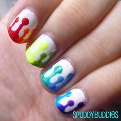 Rainbow drip nail art (with tutorial, kind of)