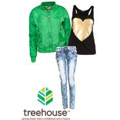 Junior's Grade 10:  Embellished Top  Bright Bomber Jacket  Distressed Skinny Jean  Sizes: L, XL,   Bottoms: 9, 11, 13