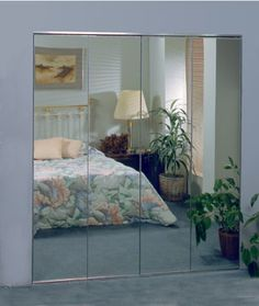 Wardrobe Doors 150BF Series Frameless Aluminum Bifold Mirror Doors Our  Frameless Bifold Mirror Door Gives You