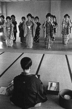 Geisha school, Kyoto, Japan. 1961. Photography by Rene Burri