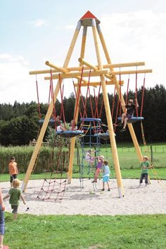 60 diy playground project ideas for backyard landscaping page 2 Diy Playground, Modern Playground, Natural Playground, Playground Design, Kids Outdoor Play, Backyard For Kids, Outdoor Fun, Cool Playgrounds, Kids Play Spaces