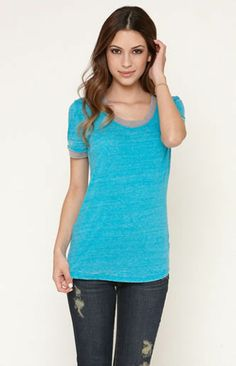 NEW Nollie Ringer Tee Retro Rider Crew Tee Blue Size XSmall #Nollie #Casual
