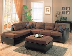 Harold Collection Chocolate Two-tone Sectional