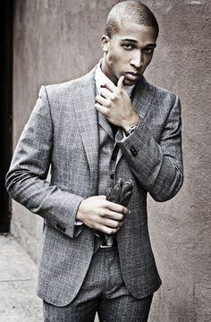 Love the windowpane suit.