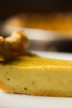 This pie is a delicious twist on a custard standby, and it is exceedingly easy, a humble yet grandly flavored addition to any celebration Don't let making your own pie crust intimidate you: our pie guide has everything you need to know.
