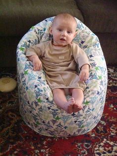 Baby bean bag - supports babies to sit.. great for colicky babies.