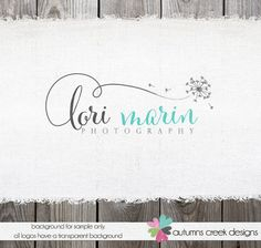 Premade Logo - photography logo - Dandelion Logo - Flower Logo Design Dandelion Watermark for photographer logos with cameras