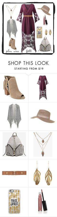 """""""Free Spirit"""" by lindsay8883 ❤ liked on Polyvore featuring Marc Fisher, Frapp, Topshop, Marni, Aurélie Bidermann, Casetify, Laura Geller, Fall, dress and boho"""