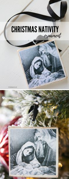 Christmas | Handmade Gift Ideas | This DIY Christmas Nativity Ornament Gift is such a great gift to give to friends, family and neighbors.