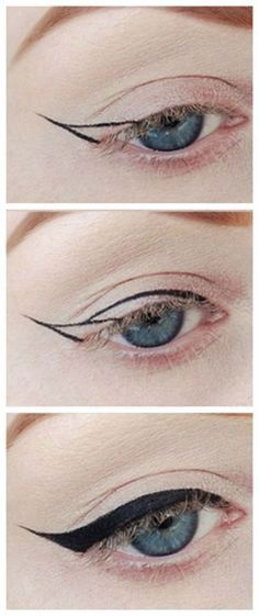 Winged Eyeliner Tutorials - How to Apply Eyeliner for Beginners- Easy Step By Step Tutorials For Beginners and Hacks Using Tape and a Spoon, Liquid Liner, Thing Pencil Tricks and Awesome Guides for Hooded Eyes - Short Video Tutorial for Perfect Simple Dramatic Looks - thegoddess.com/winged-eyeliner-tutorials