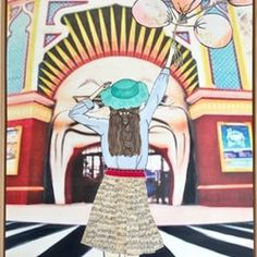 Day at Luna Park  by Lizzie Alsop. Paintings for Sale. Bluethumb - Online Art Gallery