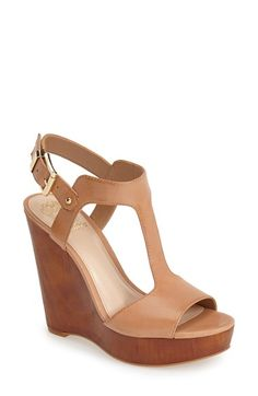 Vince+Camuto+'Mathis'+T-Strap+Wedge+Sandal+(Women)+available+at+#Nordstrom