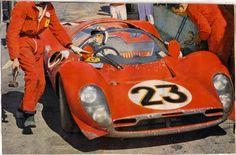 Welcome drink for Chris Amon in the winning Ferrari ch no 0846 which he shared with Lorenzo Bandini at the Daytona 24 hours  Ferrari Racing, Ferrari Car, Amon, Sports Car Racing, Sport Cars, Auto Racing, Le Mans, Lorenzo Bandini, Michael Fisher