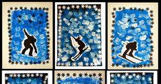 Avec ma classe, des petits/moyens de maternelle, nous travaillons actuellement autour de l'HIVER: la neige, le froid, etc... Je vous en... Alexander Mcqueen Scarf, Ski, Centre, Sports, Arts Plastiques, Snow, Art Lessons Elementary, To Draw, Hs Sports