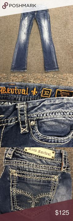 Rock Revival Jeans Ripped boot cut rock Revival Jeans Rock Revival Jeans Boot Cut