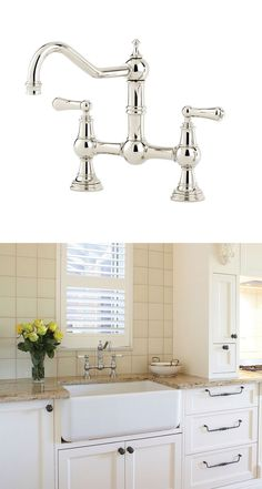 Perrin & Rowe 4751 PROVENCE Bridge Mixer Tap with Lever Handles