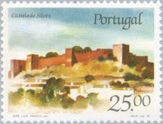 Sello: Castle of Silves (Portugal) (Castles and Coat of arms of Portugal (4th group)) Mi:PT 1709,Sn:PT 1688,Afi:PT 1787