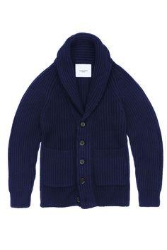 Ovadia & Sons Navy Shawl Sweater Jacket