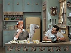 I Love Lucy job switching in color!!!!!!