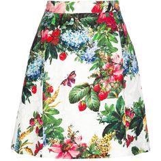 DOLCE & GABBANA floral skirt ($845) ❤ liked on Polyvore featuring skirts, faldas, floral print skirt, colorful skirts, floral skirt, dolce gabbana skirts and flower print skirt