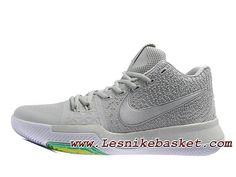 official photos c44ef 5a935 Nike Kyrie 3 ID Wolf Grey Chaussures Officiel prix Pour Homme Gris