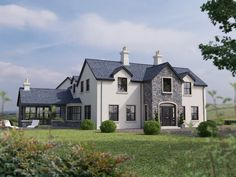 East Of 81 Garvaghy Church Road, Banbridge - Property For Sale Plans Architecture, Farmhouse Architecture, Stone Exterior Houses, Dream House Exterior, House Exteriors, Deco Design, Design Case, Dormer House, Dormer Bungalow